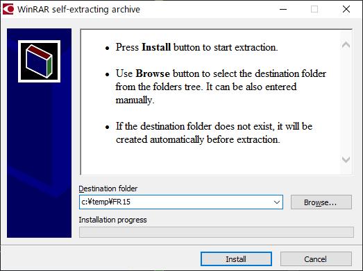 FineReader 15 インストーラーの展開